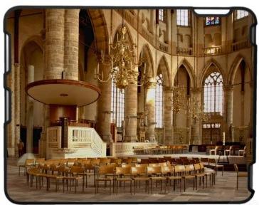 Interieur katholieke kerk als iPad case