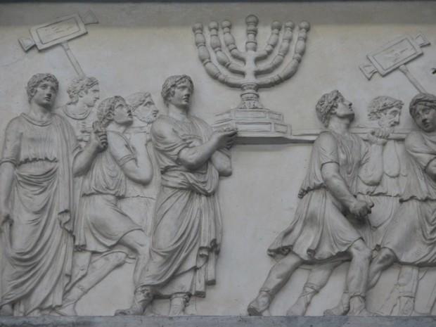 De invasie van Jeruzalem door Titus (Vaticaans museum)