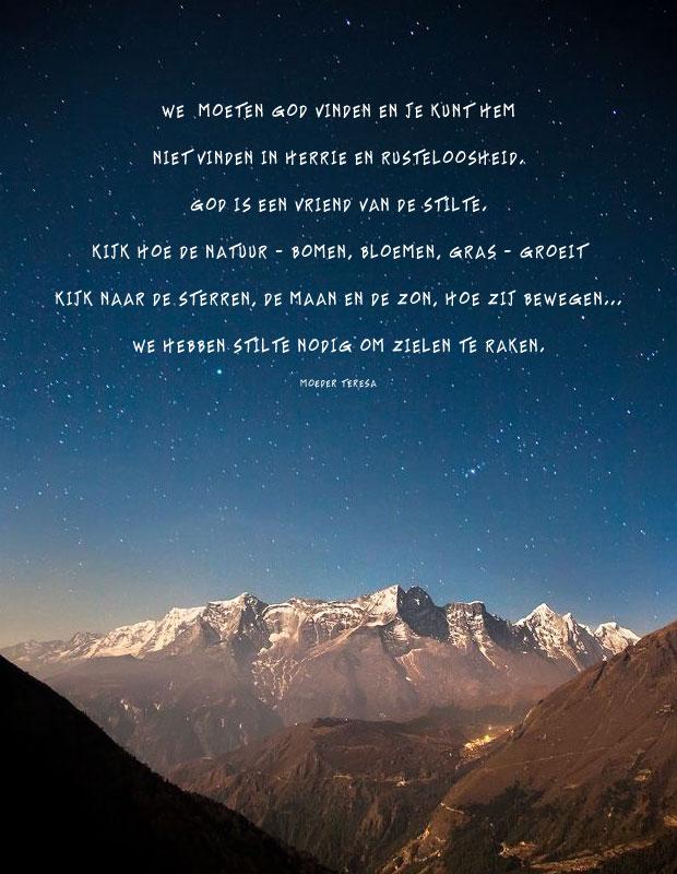 Je kunt God vinden in de stilte
