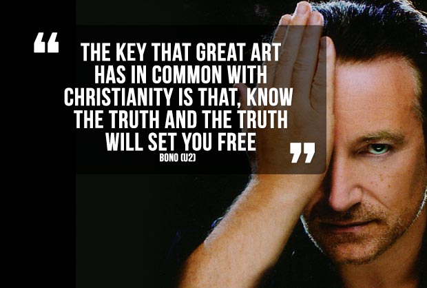 Quote van Bono over kunst