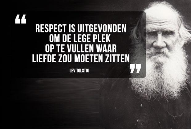 Citaten Respect : Quote lev tolstoj over respect creatov