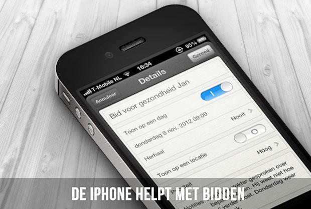 De iPhone helpt met bidden