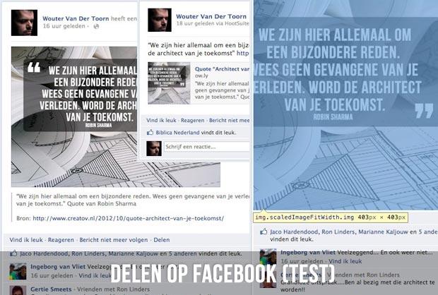 Delen op Facebook (test)