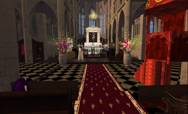 Second Life kerk