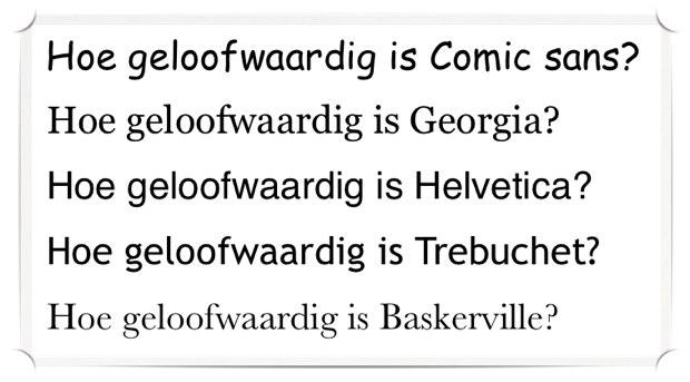 lettertypen en geloofwaardigheid