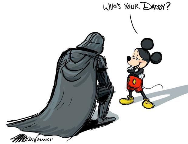 Mickey Mouse en Dart Vader
