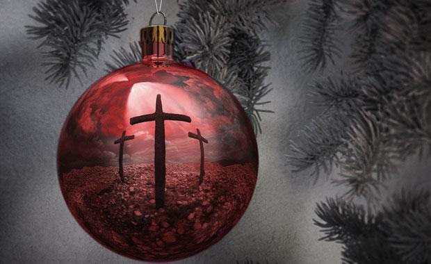 kerstbal met drie kruisen