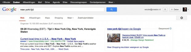 Google New York tijd