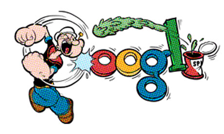 Google doodle popeye