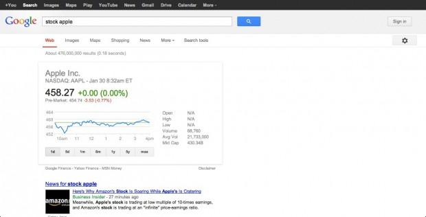 "Google ""stock apple"""
