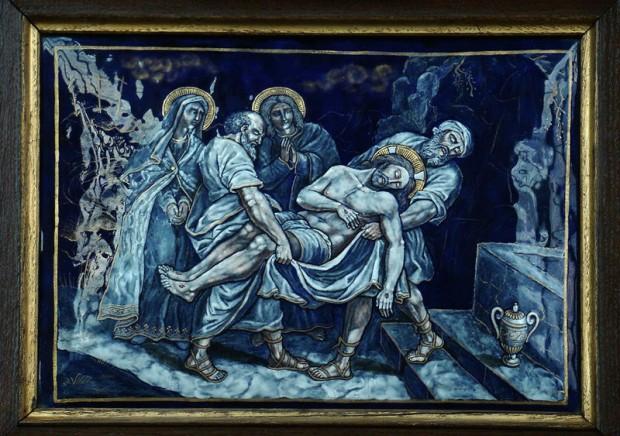 14: Jezus wordt in het graf gelegd