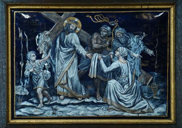 6: Veronica droogt de tranen van Jezus
