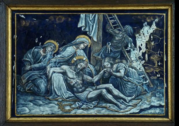 13: Jezus wordt van het kruis gehaald en aan zijn moeder gegeven