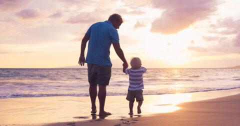 vader en zoontje