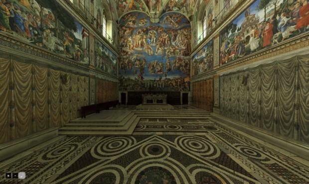 virtuele sixtijnse kapel