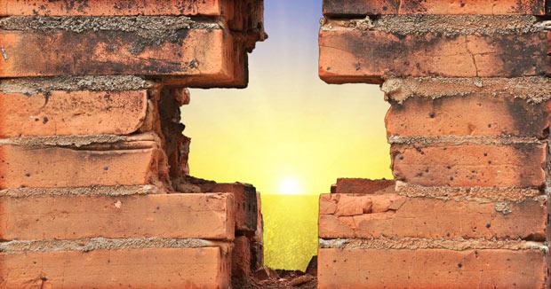 kruis in de muur