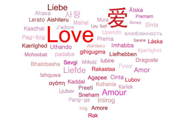 talen van liefde