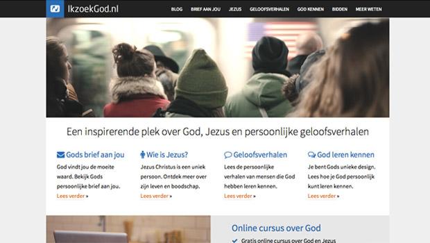 IkzoekGod.nl nieuwe voorpagina