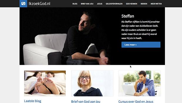IkzoekGod.nl oude voorpagina