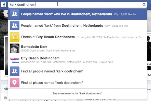 Facebook zoeken op kerk doetinchem