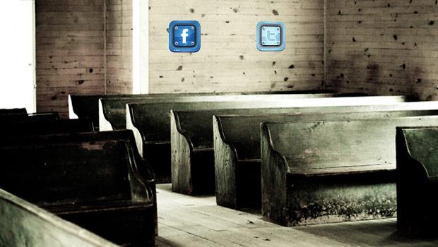 sociale media tijdens de kerkdienst