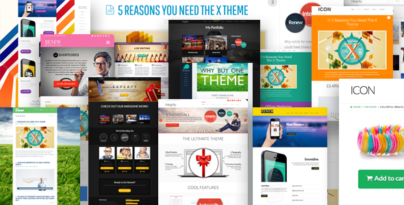 X WordPress template