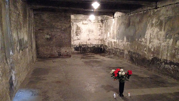 Gaskamer in Auschwitz kamp 1
