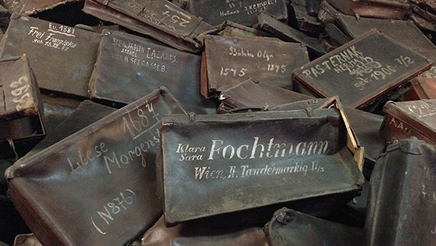 Auschwitz, koffers van slachtoffers