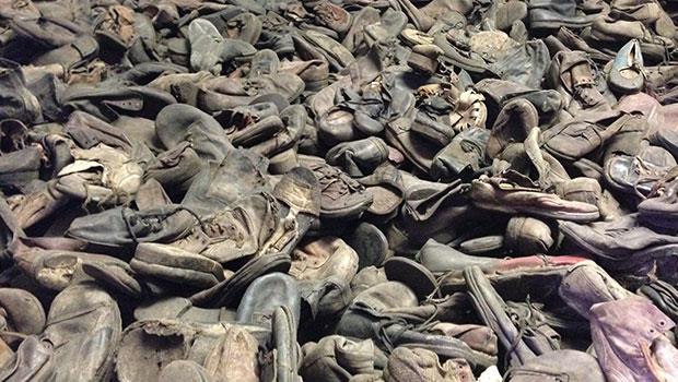 Auschwitz, overgebleven schoenen van slachtoffers