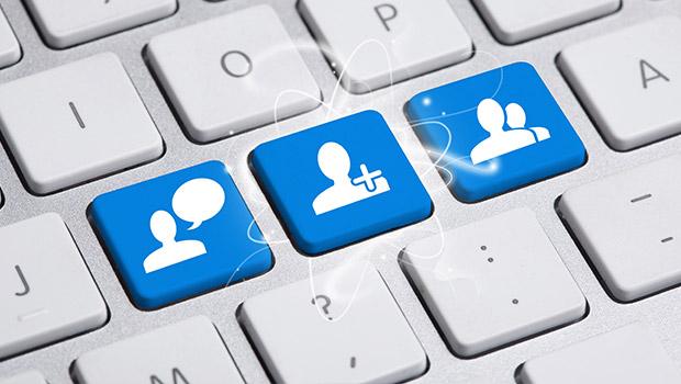 sociale media contacten