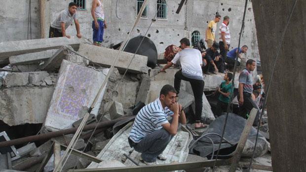 israel palestijns conflict puinhopen