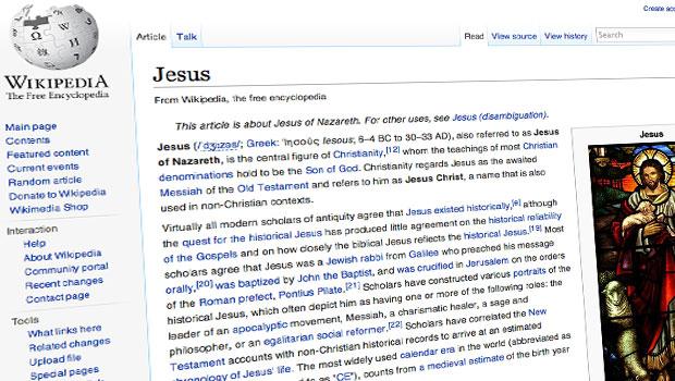 wikipedia artikel over jesus