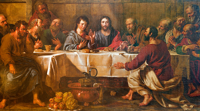 Laatste avondmaal Jezus met zijn leerlingen