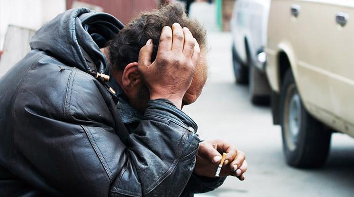dakloze op straat
