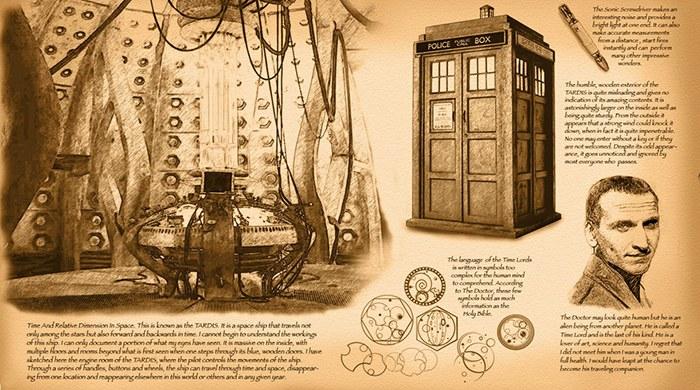 Doctor Who Da Vinci Schetsen