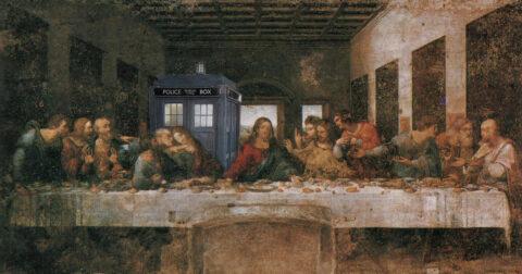 Tardis (doctor Who) and the last supper, Da Vinci