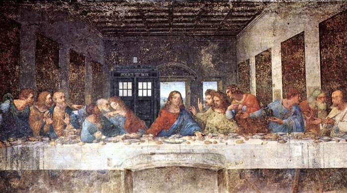 doctor who (da vinci last supper)