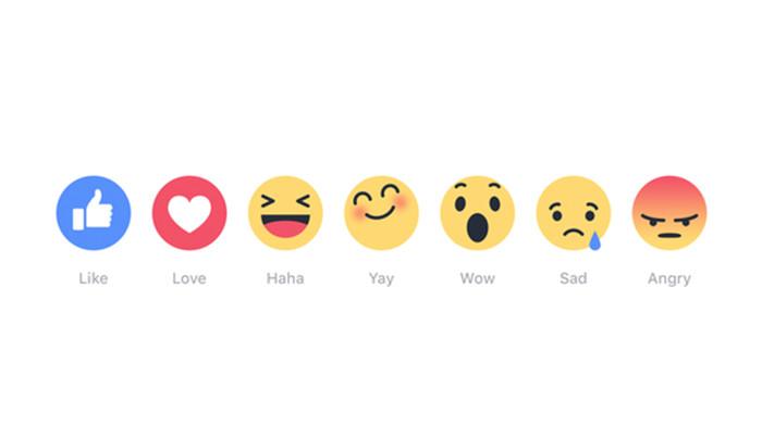 facebook reactie knoppen