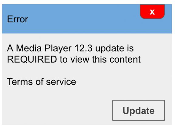 Voorbeeld malware download melding