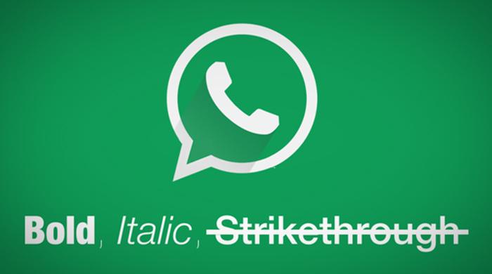whatsapp bold italic strikethrough