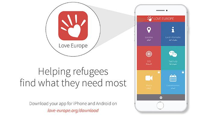 Love-Europe, app voor vluchtelingen