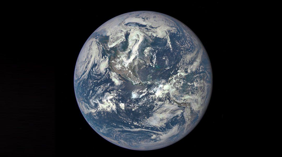 planeet aarde vanuit de ruimte bekeken