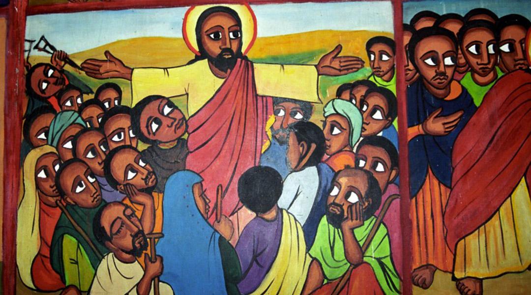 Jezus zoals hij vaak wordt voorgesteld in Kenia