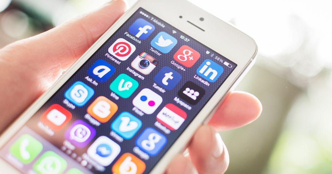 sociale netwerken smartphone