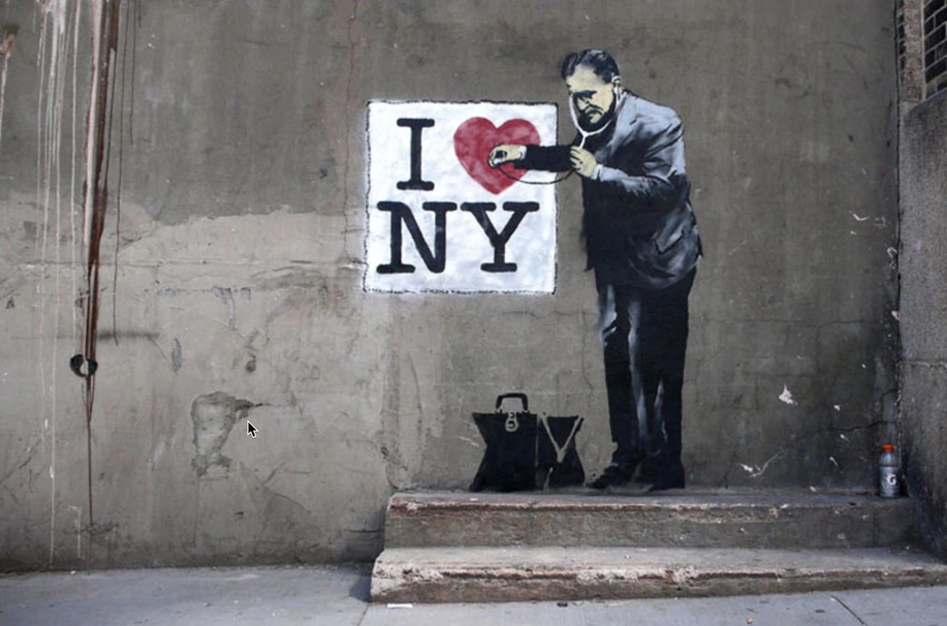 Banksy I Love NY