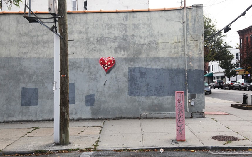 banksy: heart balloon brooklyn