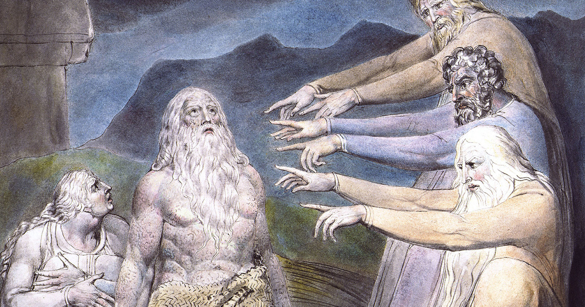 Job Rebuked by his Friends - William Blake
