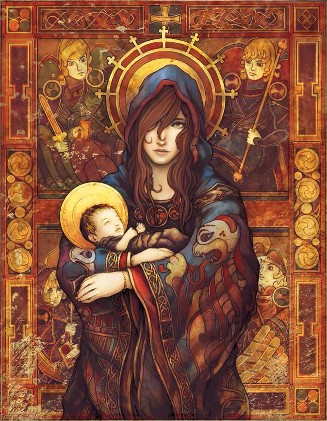Keltische Moeder en Kind