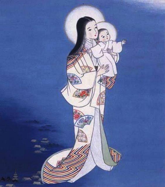 """""""Onze Lieve Vrouwe van de Maan,"""" door Sister Teresa, een Japanese Carmelitische non."""