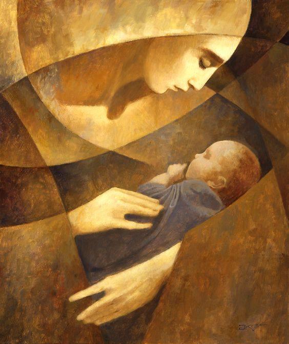 Moeder en Kind door J. Kirk Richards